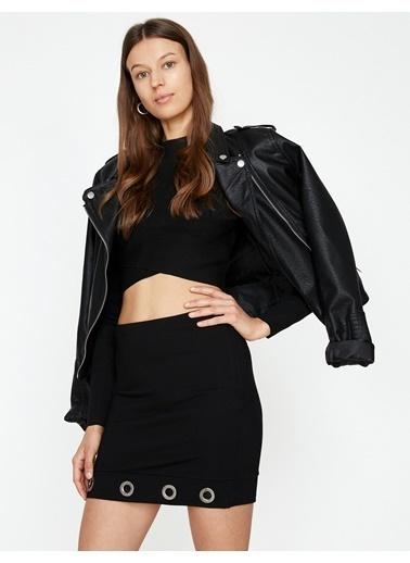 Koton Mini Etek Siyah